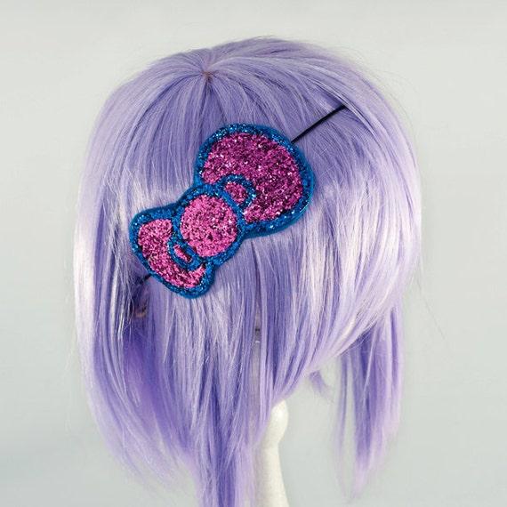 Pop Kei Hello Kitty Hair Bow Glitter Headband Large