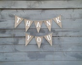 Thank You Burlap banner bunting