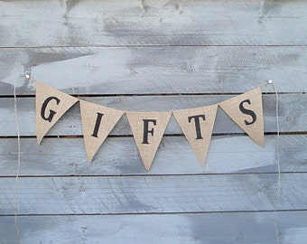 Gifts burlap bunting banner