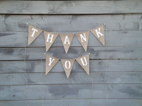 Thank You Burlap banner bunting