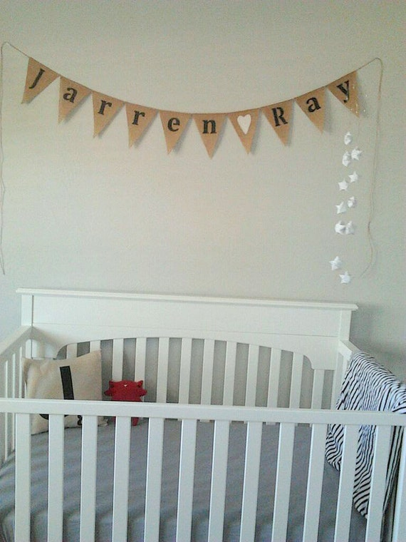 Custom baby name banner, design your own