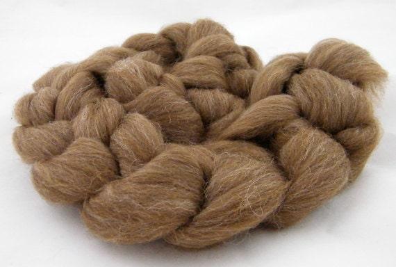 Spinning Fiber- Manx Loaghtan Roving Brown,  Rare Breed, Top 100g