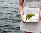 White & Chartreuse Clutch