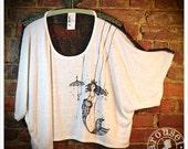 Mermaid tShirt - Drape top -  Womens one size shirt  -  Drape Top - oversize top