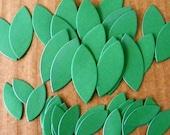 Die Cut set of 40 Leaves 2 sizes for flowers