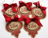 Vintage Christmas Ornament Gift Tags - Handmade Greeting Cards and Tags by Susan K.