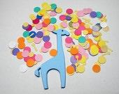 Giraffe blue Die Cuts - Supplies by UniquesStashNStuff - set of 12