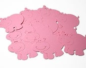Pink Hippo Die Cuts - Handmade die cuts, tags, and paper crafting supplies by UniquesStashNStuff