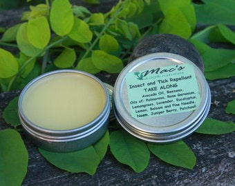 Natural Insect and Tick Repellent Solid, Alcohol Free, Chemical Free