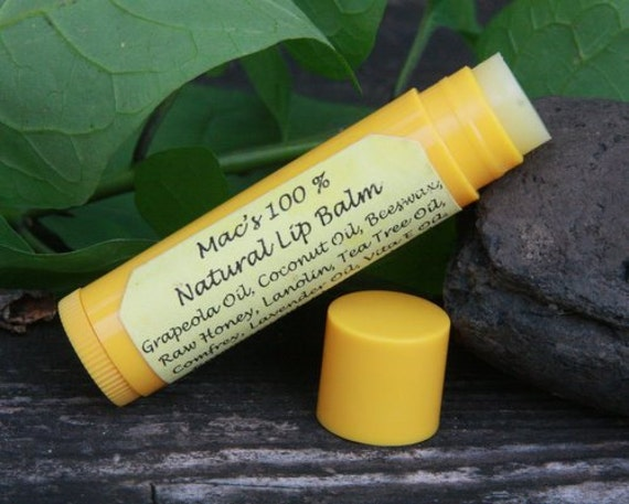 Mac's 100% Natural Lip Balm, Chemical Free, New and Improved, Lanolin free!
