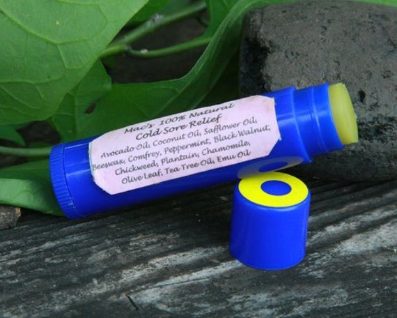 Mac's 100% Natural Cold Sore Relief Lip Balm, Soothing and Healing