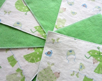 Diaper Wipes/Flannel Washcloths/Cloth Diaper Wipes for Baby (10), baby carriage, bibs, diapers, swaddled baby
