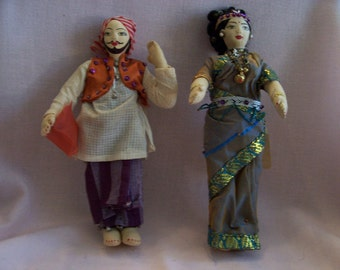 Two Vintage Dolls From India