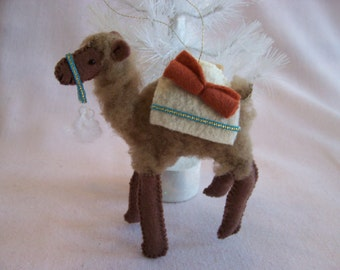 Handcrafted Camel Christmas Ornament