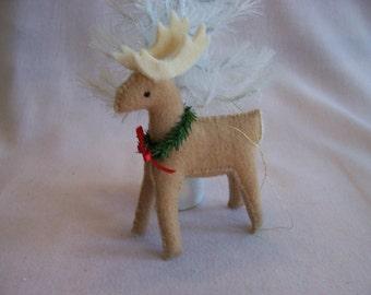 Handcrafted Felt Reindeer Ornament
