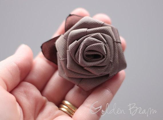 Light Brown Rose Hair Clip
