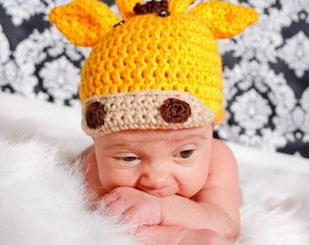 Giraffe Character Animal Hat for Children