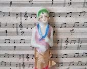 Porcelain Half Doll Whisk Brush 1920s Hat Brush Dress Brush
