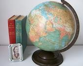 Replogle Globe 1930s Standard 10 Inch Globe RARE