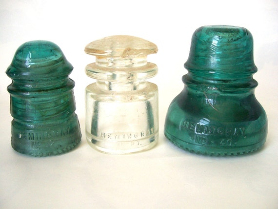 Hemingray Glass Insulators Vintage INSTANT COLLECTION