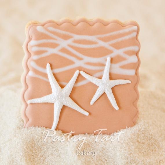 Items Similar To Beach Wedding Starfish Pair Cookie Favors