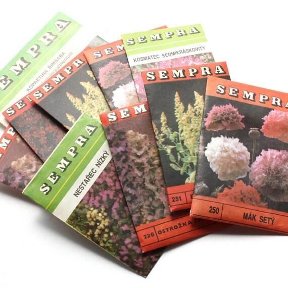 Vintage Seed Packets 10 Czechoslovakia Flower Seeds