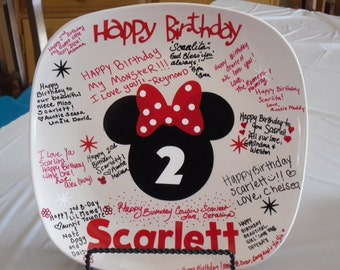 Mickey mouse  birthday plate