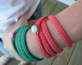 Crochet Rope Bracelet in Assorted Colors