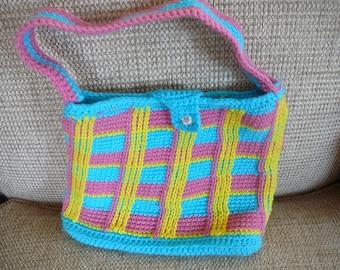 Plaid Crochet Purse