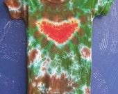 Bamboo Baby Onesie One Love Tie dye, Medium (6 months)
