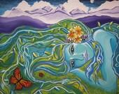 Goddess of the Mountains, 2005, Gouache on canvas, Giclee Print