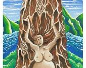"The Earth Mama, Lake Tahoe, 2011, Giclee print, 5.6"" x 11"""