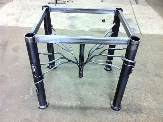 Items Similar To Wrought Iron Dining Table Base Only On Etsy
