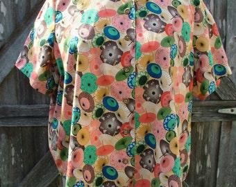 4X Mandarin Collar Ladies Cotton Blouse