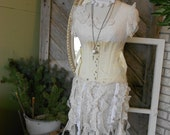 Vintage Boned Corset - Fan Laced - In Original Box - Creamy White - Camp Lumbosacral Support