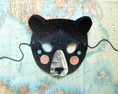 Black Bear Mask, Woodland Forest Party or Wedding Favor