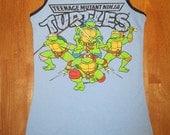 RESERVED Teenage Mutant Ninja Turtles upcycled tank top Size M OOAK