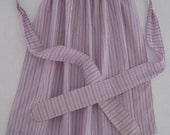 Handmade Vintage Apron in Purple Floral Print Cotton