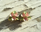 Pink Flower Patch Clip Ons