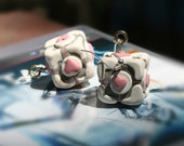 Portal Weighted Companion Cube Earrings - Limited Availability