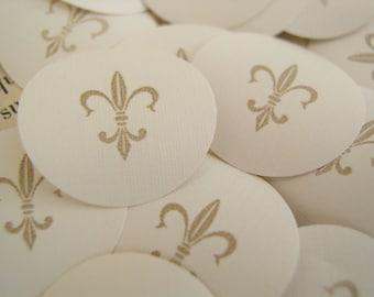 1 Inch Circle Punches Fleur De Lis Vintage Wallpaper Embellishments