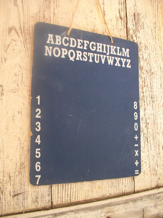 Vintage Chalk Board Child's ABC Tablet