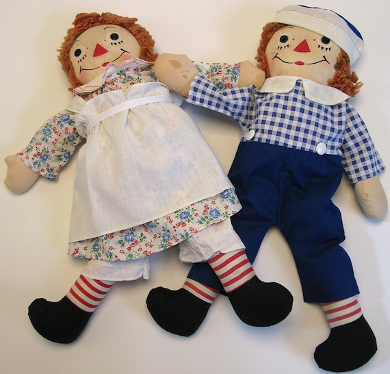 Vintage Raggedy Ann And Andy Dolls 47