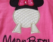 Kids Personalized/Monogrammed  Epcot Minnie/Mickey T-shirt