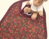 Baby bib - (HAND STITCHED) Butterflies, bib, terry cloth