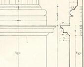 Doric Pedestal and Base Architectural Drawing Vignola