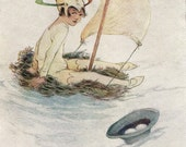 """Antique  Print for Children  Attwell. Peter Pan """"The never bird"""""""