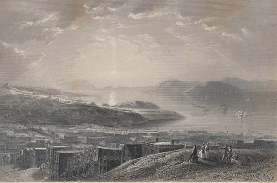 Golden Gate Engraving, Steel, Picturesque America