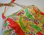 1960s Amazing, Vintage Hawaiian Romper Fits Large - XL Swimsuit Jumpsuit