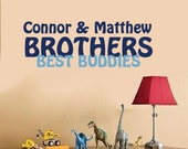 Wall Decal Brothers Best Buddies Monogram Name
